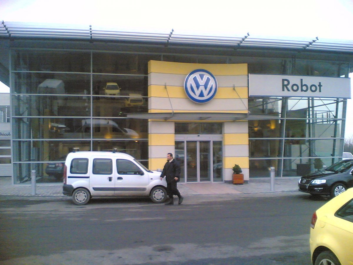 Salon Auto Volkswagen Baia Mare - intrarea principala