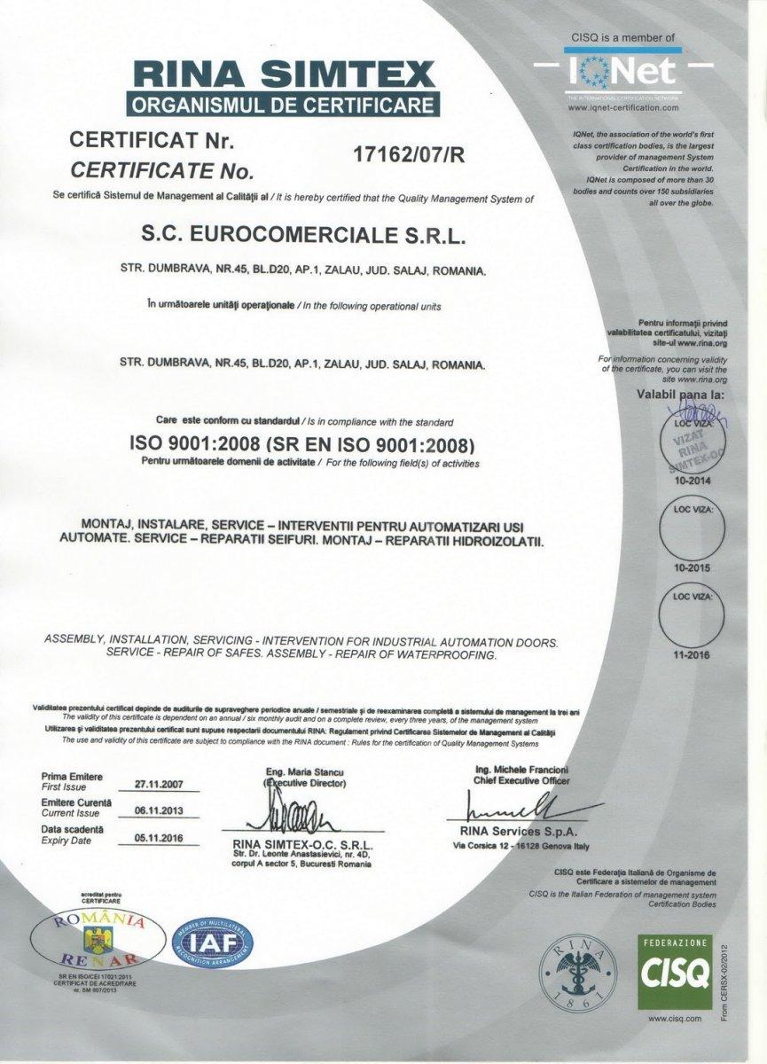 Certificat de calitate